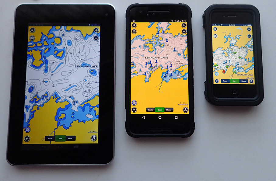 GPS Navigation On Esnagami Lake - How to use both us and canada maps in gps